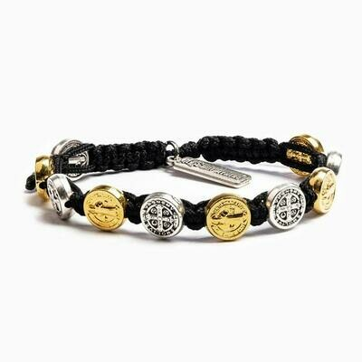 Benedictine Blessing Bracelet (Mixed Metal/Black)