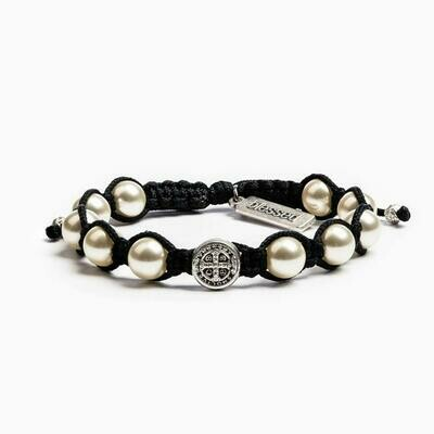 Divine Blessings Bracelet (Silver/Black)