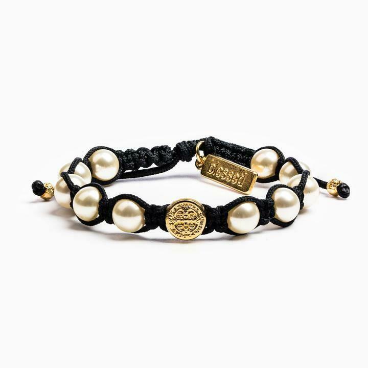 Divine Blessings Bracelet (Gold/Black)