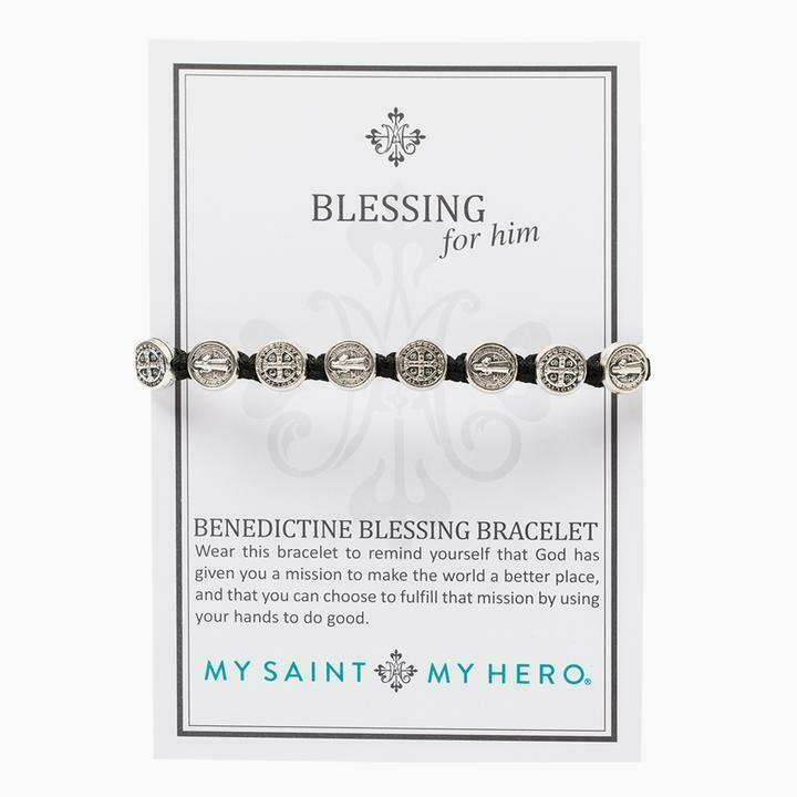 Benedictine Blessing Bracelet For Him