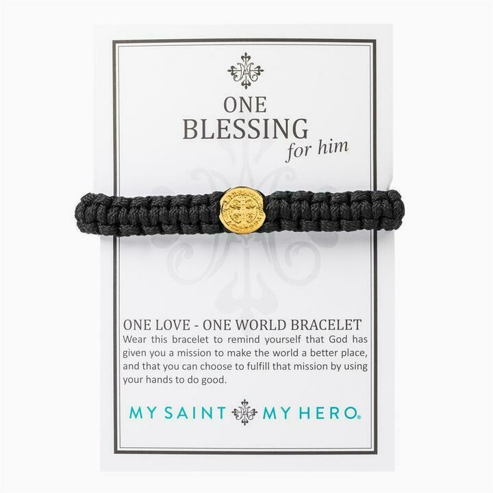 One Blessing Bracelet For Him (Gold/Black)