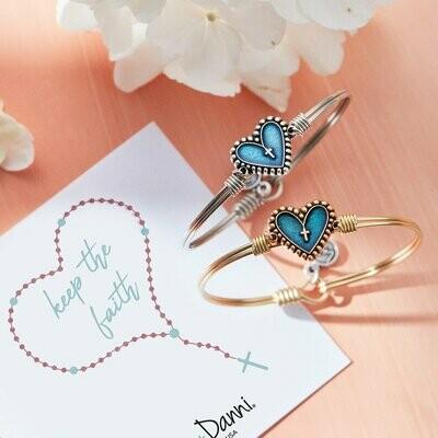 Luca + Danni Rosary Heart Bracelet