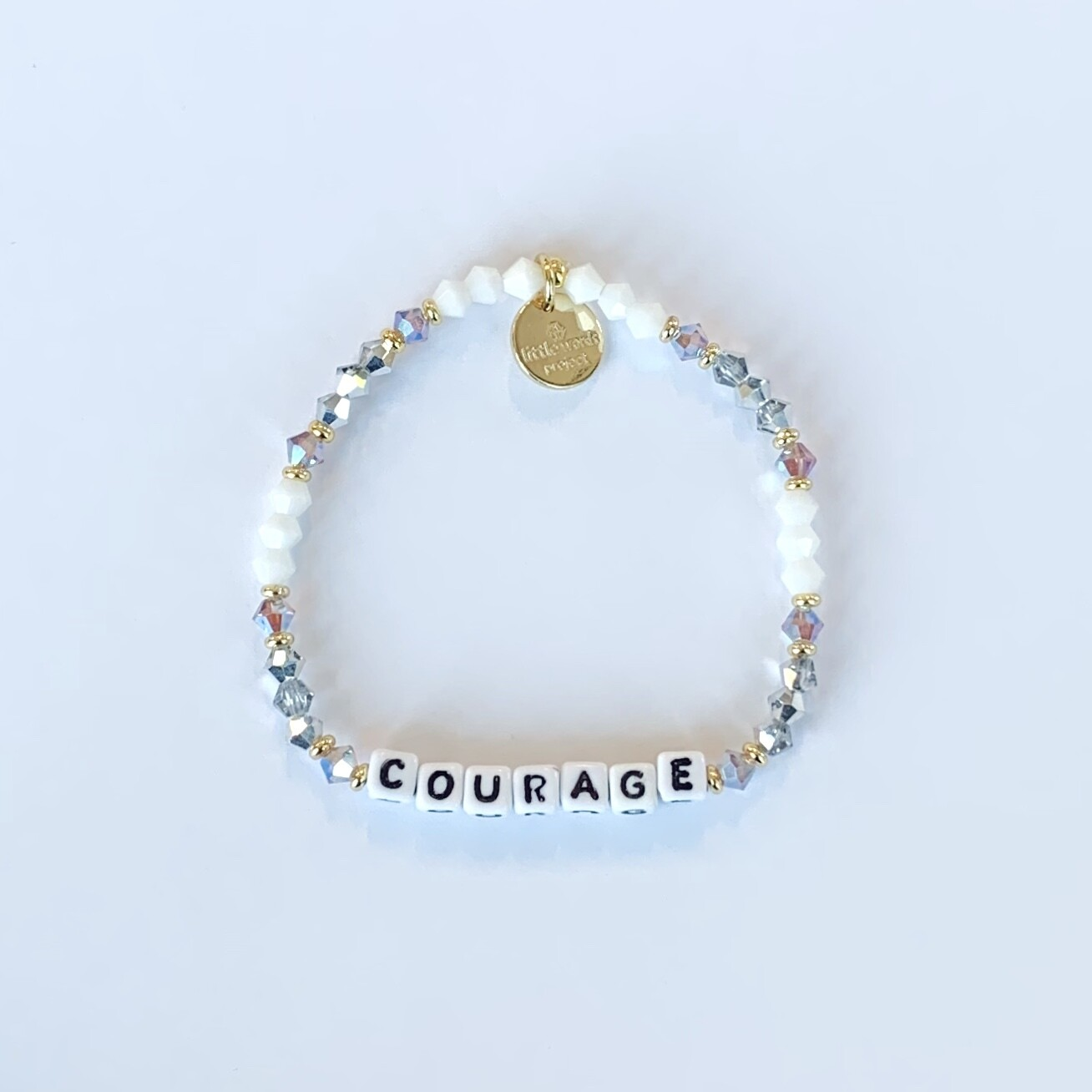 """Little Words Project White """"COURAGE"""" Bracelet"""