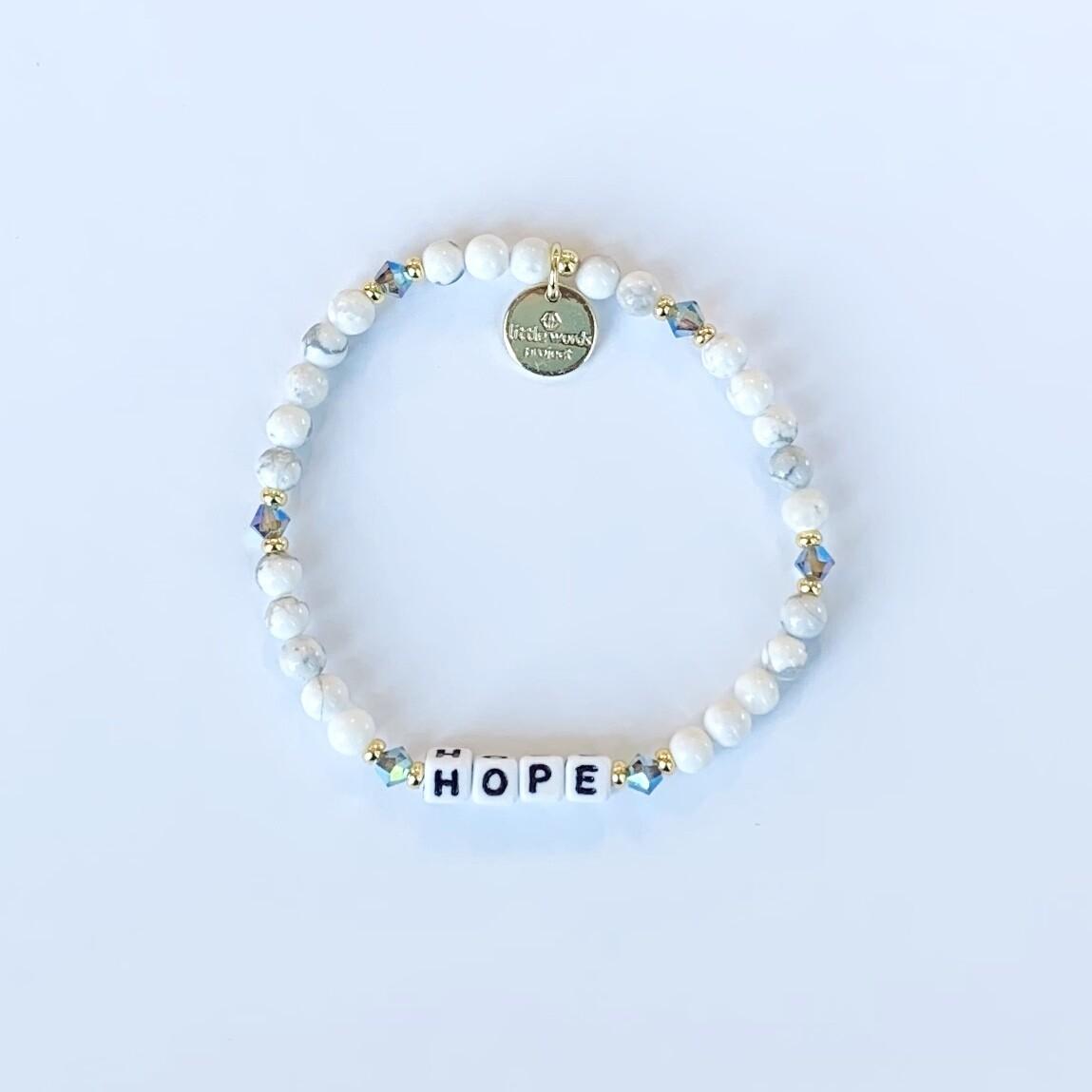 "Little Words Project White ""HOPE"" Bracelet"