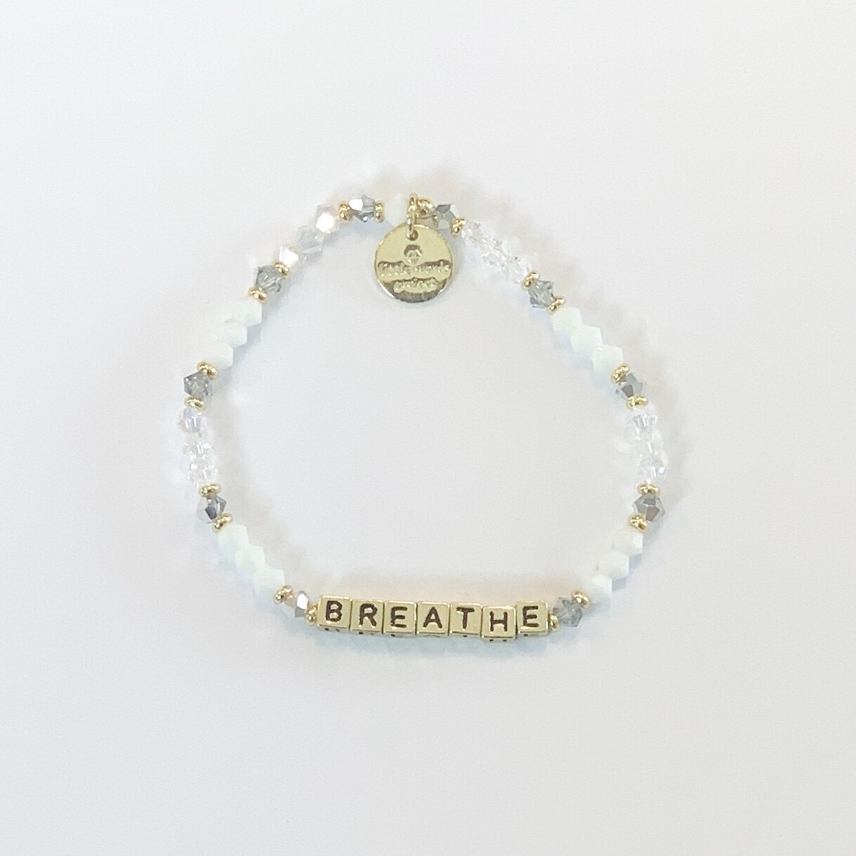"Little Words Project Gold ""Breathe"" Bracelet"