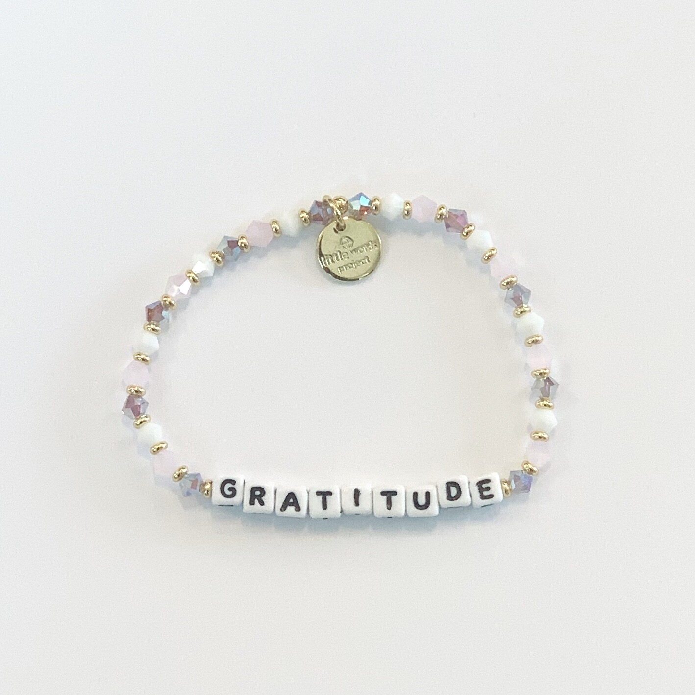 "Little Words Project White ""Gratitude"" Bracelet"