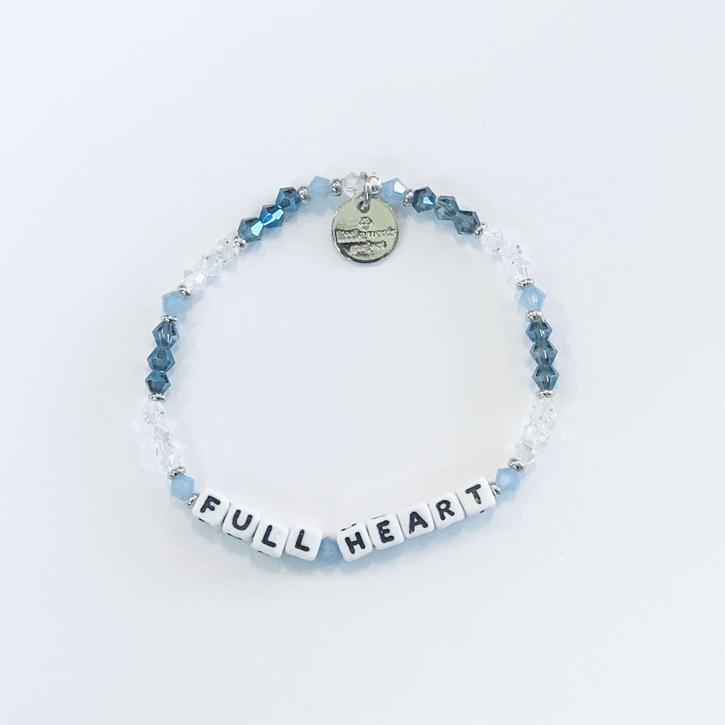 """Little Words Project White """"Full Heart"""" Bracelet"""