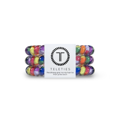 TELETIES Small Hair Ties, Chasing Rainbows