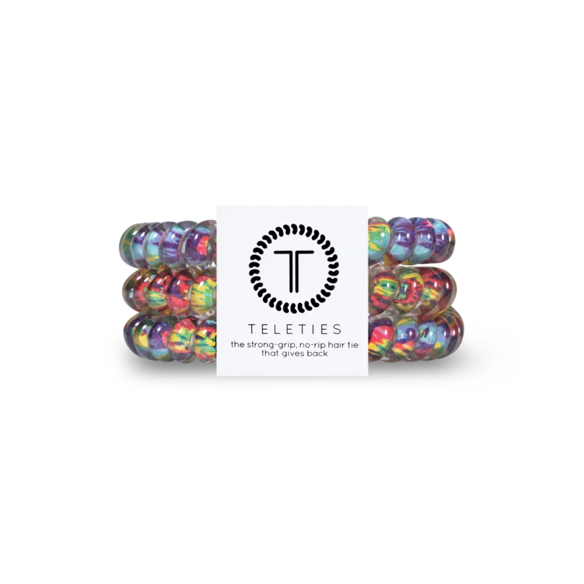 TELETIES Small Hair Ties, Psychedelic