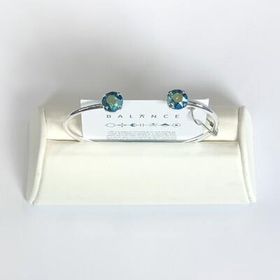 Balance Bracelet Silver/Aquamarine Lemon