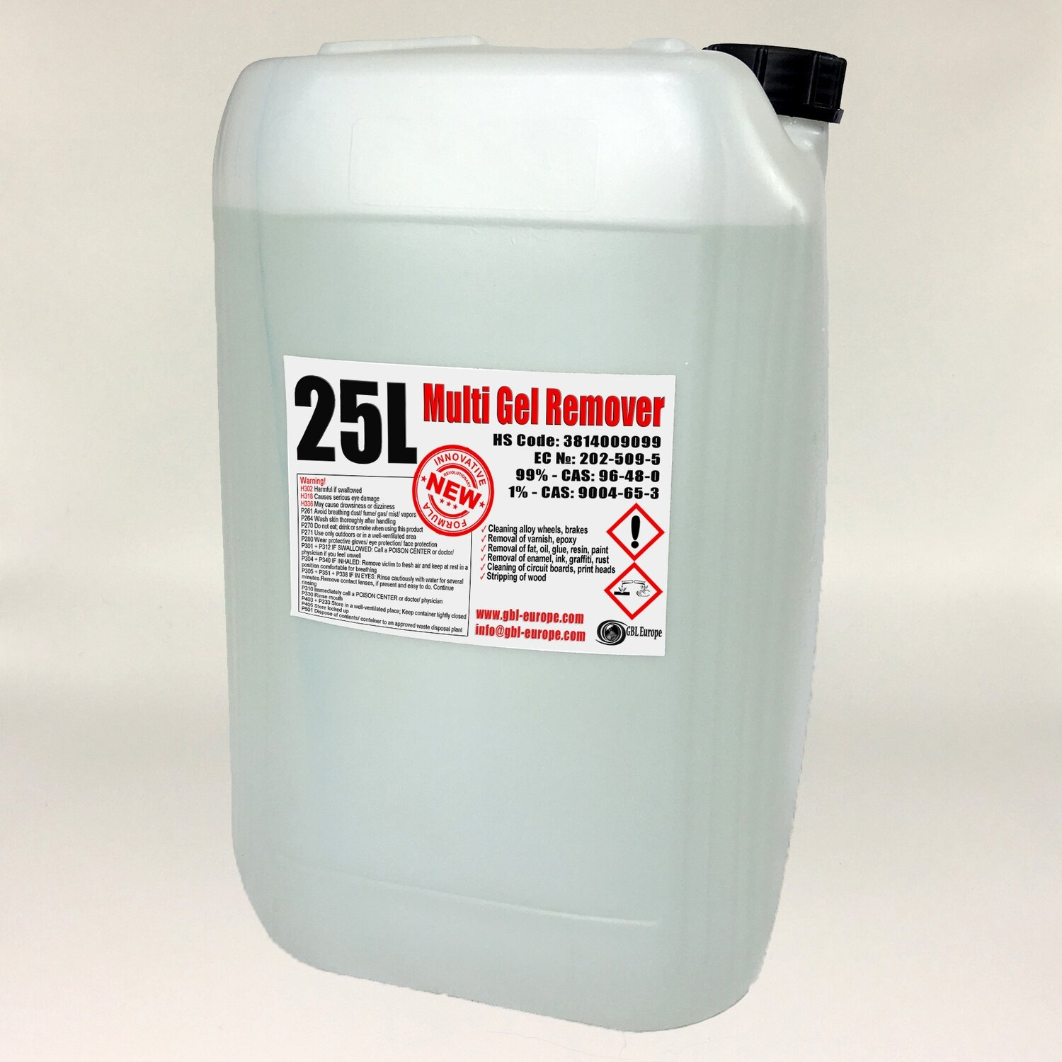 Multi Gel Remover® 4x 25.000 ml Canister