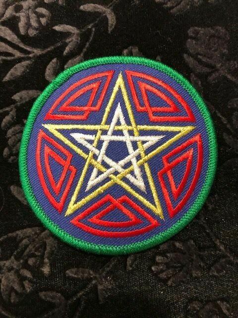 Patches, Wiccan, Celtic Pentagram