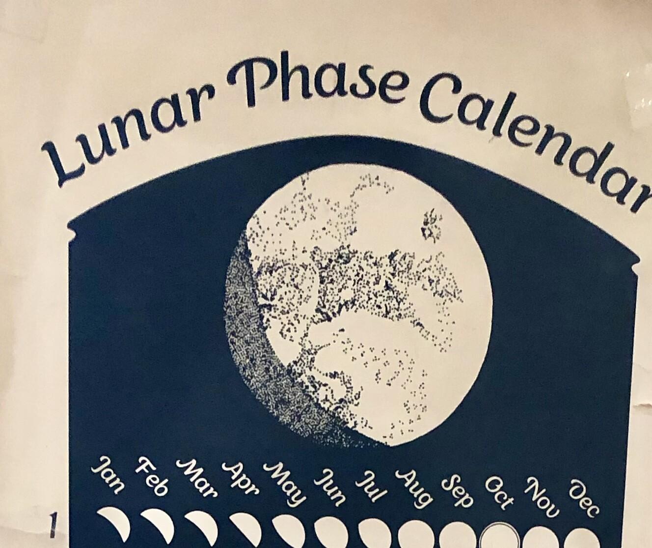 Original Lunar Phase Calendar 2020