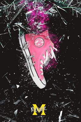 Custom Converse Ptero Pink