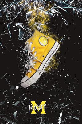 Custom Converse Sabre Yellow
