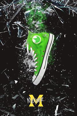 Custom Converse Dragon Green