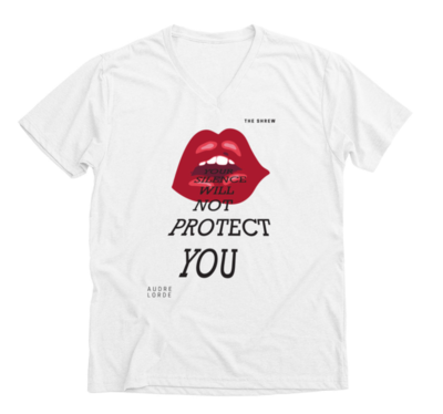 White #SpeakOut Campaign V-Neck Unisex Tee