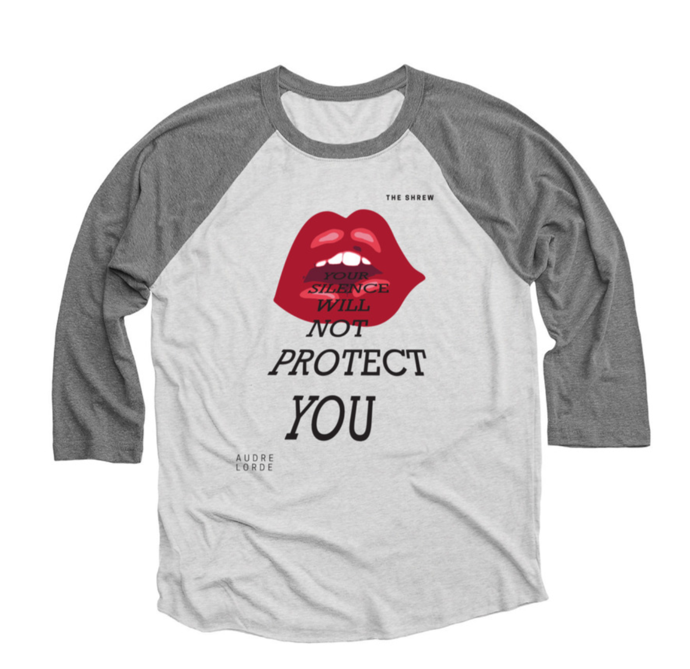 Premium Heather and Heather White #SpeakOut Campaign 3/4 Baseball Tee