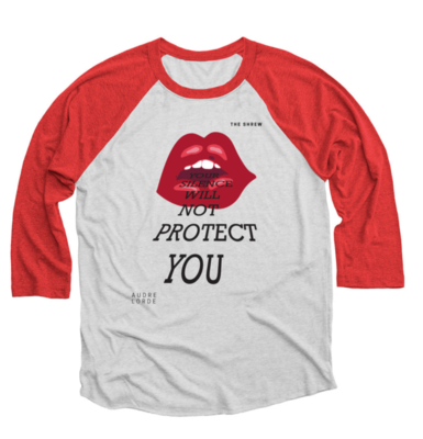 Red and Heather White #SpeakOut Campaign 3/4 Baseball Tee