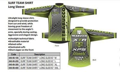Trabuuco 2019 Technical Surf fishing Team Shirts long and short sleeve