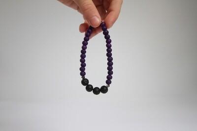 6mm Lava Bead Bracelet