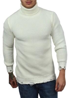 Offerta 30% Maglioncino Dolcevita Bianco manica lunga - Dolcevita White