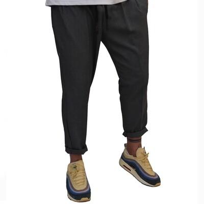 Pantalone Uomo in tessuto fresco elasticizzato grigio scuro perfetta vestibilità - Pantalaccio Dark Grey