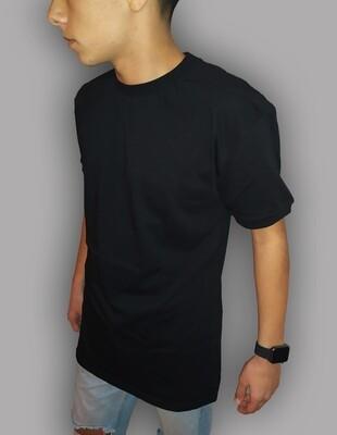 T-Shirt Uomo in cotone mezza manica colore nero - T-Shirt Tuta Black
