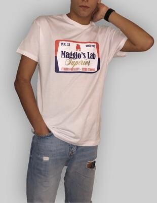 T-Shirt Uomo mezza manica con stampa brendizzata colore bianco - T-Shirt University Bulldog