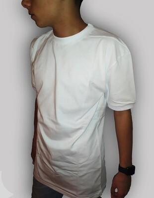 T-Shirt Uomo in cotone mezza manica colore bianco - T-Shirt Tuta White