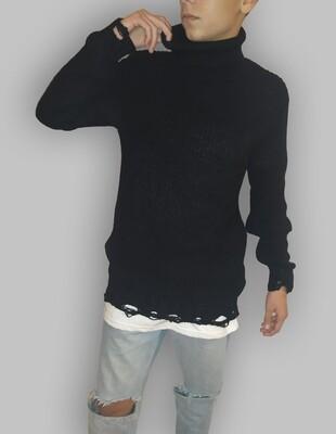 Offerta 30% Maglioncino Dolcevita manica lunga nero - Dolcevita Black