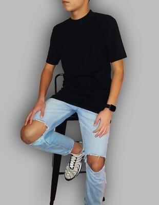 Mini Dolcevita manica corta in cotone colore nero - Mini Dolcevita Black