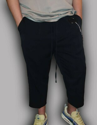 Pantalone Uomo 3/4 in morbido tessuto elastico colore nero