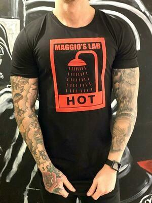 T-Shirt Uomo mezza manica con stampa brendizzata colore nero - T-Shirt Maggio's Hot Black