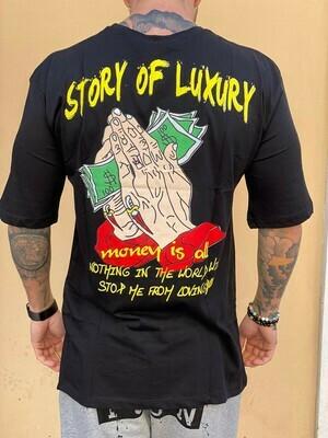 T-Shirt uomo colore nero con stampa - T - SHIRT LUXURY