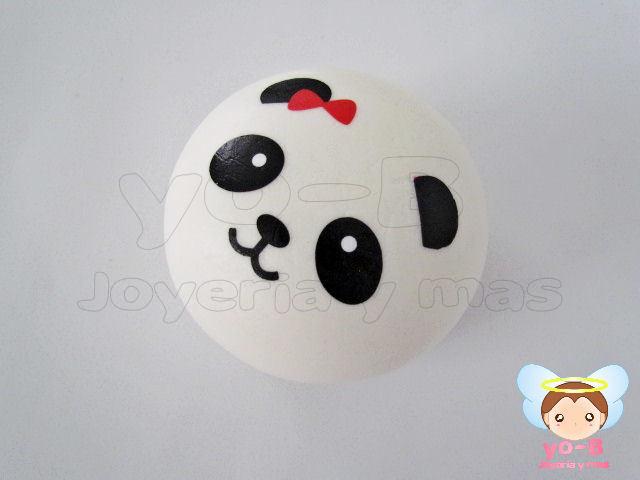 Pan Panda mini 4cm MOÑO ROJO