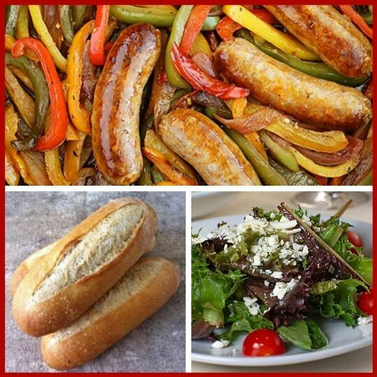 Sausage with Peppers & Onions Meal