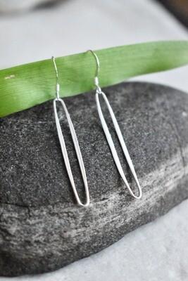 Sterling Silver linear drop earrings