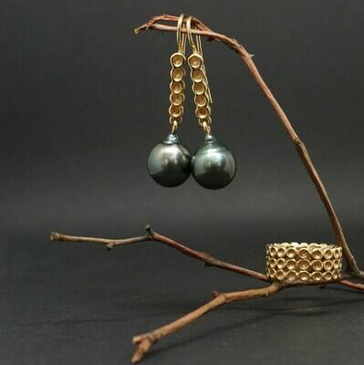 Ohrschmuck aus 750/- Roségold und Tahiti-Perlen
