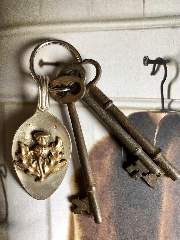 Celtic Thistle Key Fob