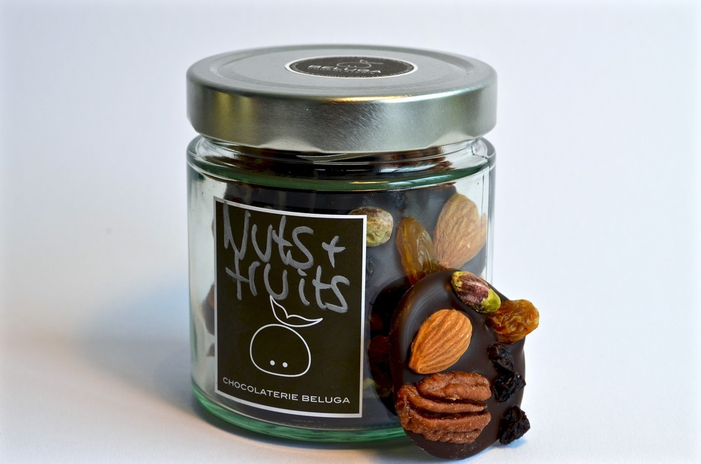 Glass Mendiants Nuts & Fruits Dark