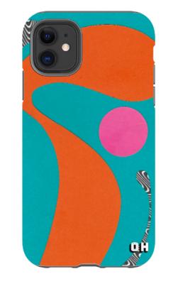 Orange Wave Phone Case