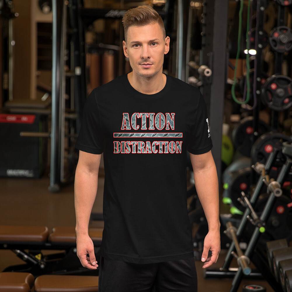 Action over Distraction MotorCycle Riding Short-Sleeve Unisex T-Shirt