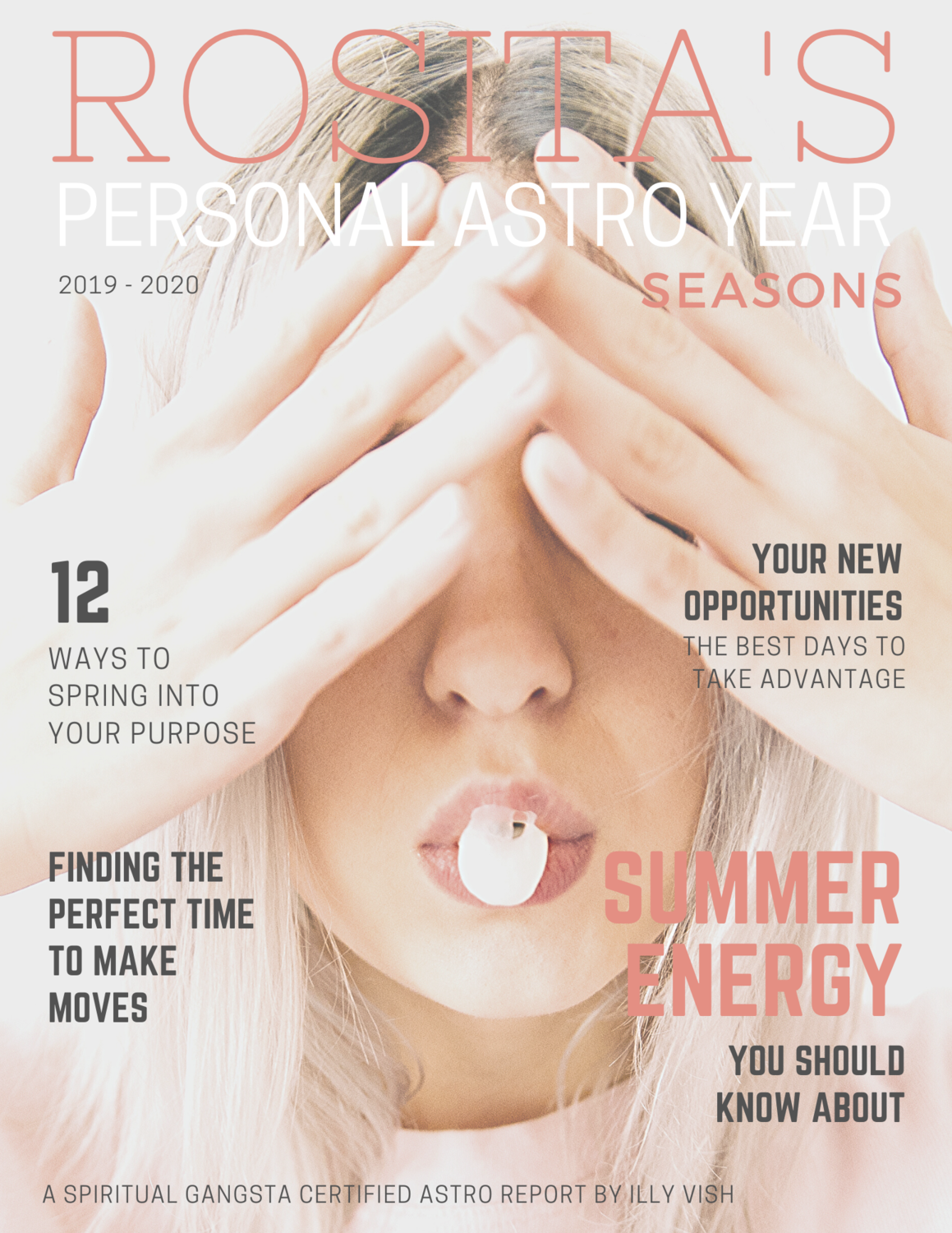 Personalized Astrological Year Seasons Report Magazine Style PDF Book