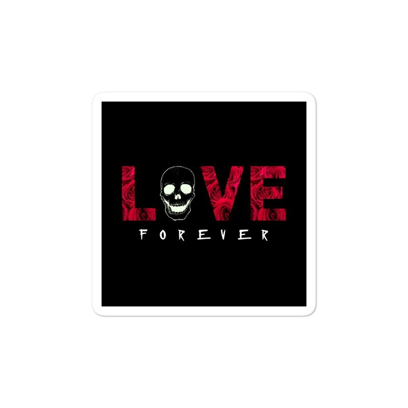 Love Forever Bubble-free stickers