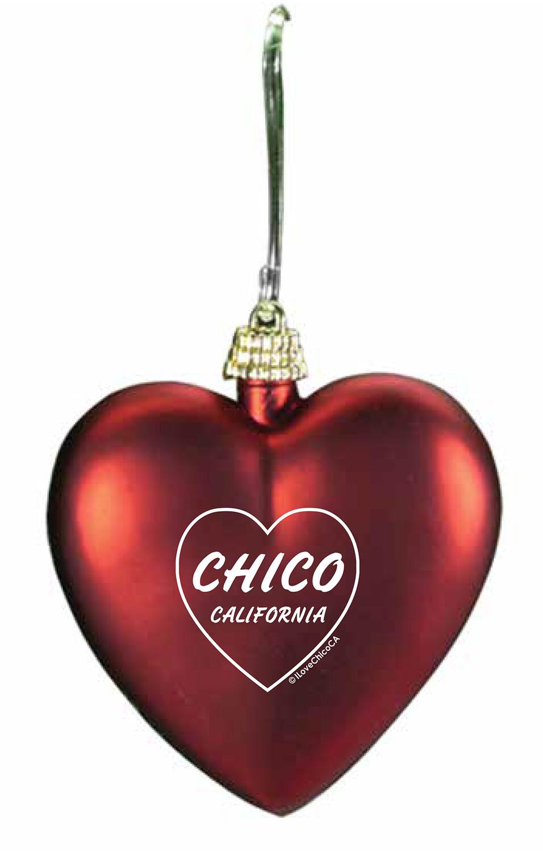 I Heart Chico - Holiday Ornament