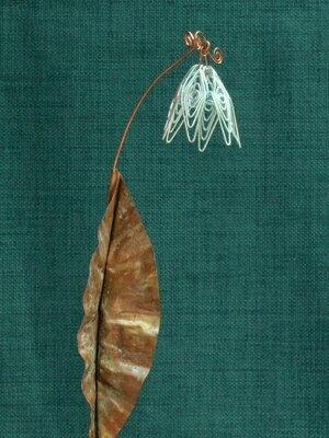 Silver Simple Flower Stake