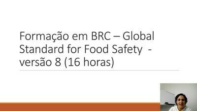 Modelos de formação BRC Food versão 8 - 16 horas
