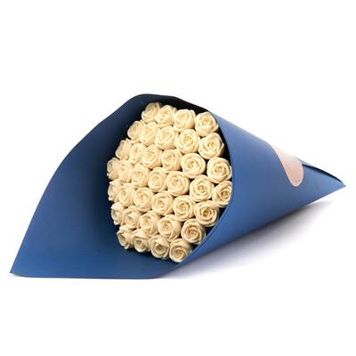 Букет синий 37 роз