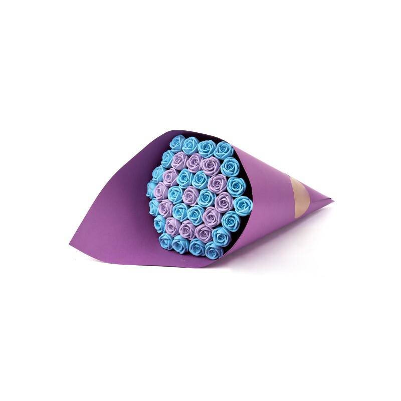 Букет фиолетовый 37 роз